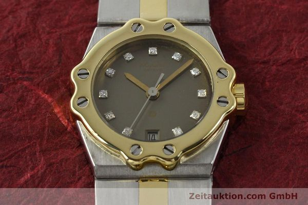 Used luxury watch Chopard St. Moritz steel / gold quartz Kal. ETA 956.112 Ref. SM28749  | 142767 14