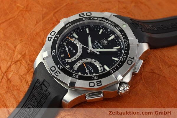 Used luxury watch Tag Heuer Aquaracer chronograph steel quartz Kal. S Ref. CAF7010  | 142771 01