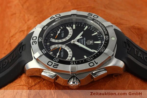 Used luxury watch Tag Heuer Aquaracer chronograph steel quartz Kal. S Ref. CAF7010  | 142771 05