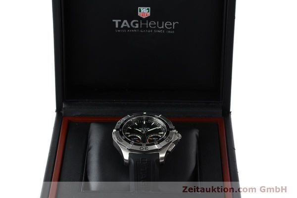 Used luxury watch Tag Heuer Aquaracer chronograph steel quartz Kal. S Ref. CAF7010  | 142771 07