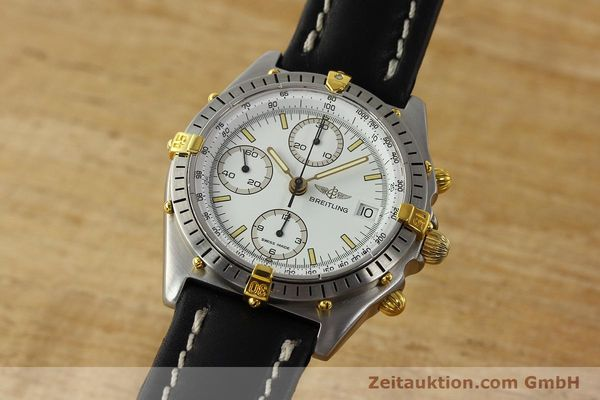 Used luxury watch Breitling Chronomat chronograph steel / gold automatic Kal. B13 VAL 7750 Ref. 81.950B13047  | 142784 04