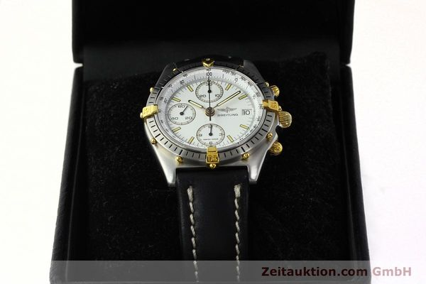 Used luxury watch Breitling Chronomat chronograph steel / gold automatic Kal. B13 VAL 7750 Ref. 81.950B13047  | 142784 07