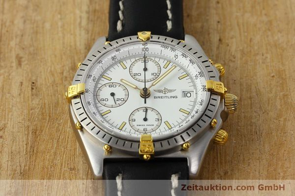 Used luxury watch Breitling Chronomat chronograph steel / gold automatic Kal. B13 VAL 7750 Ref. 81.950B13047  | 142784 15