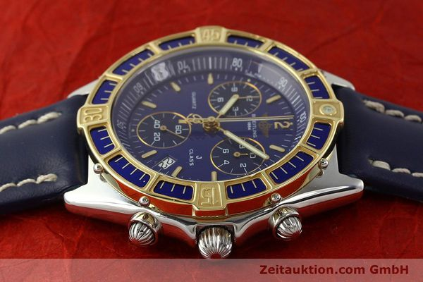 Used luxury watch Breitling J-Class chronograph steel / gold quartz Kal. B53 ETA 251262 Ref. D53067  | 142786 05