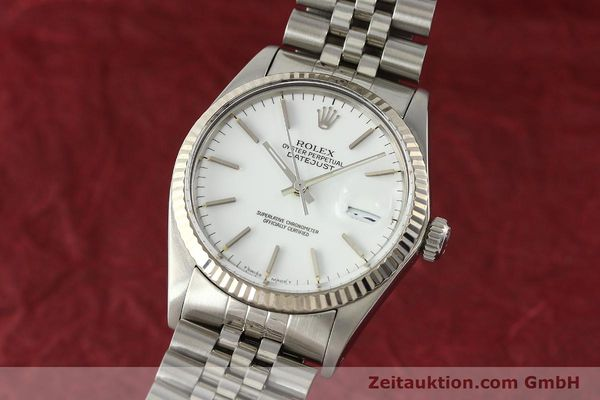 Used luxury watch Rolex Datejust steel / white gold automatic Kal. 3035 Ref. 16014  | 142794 04