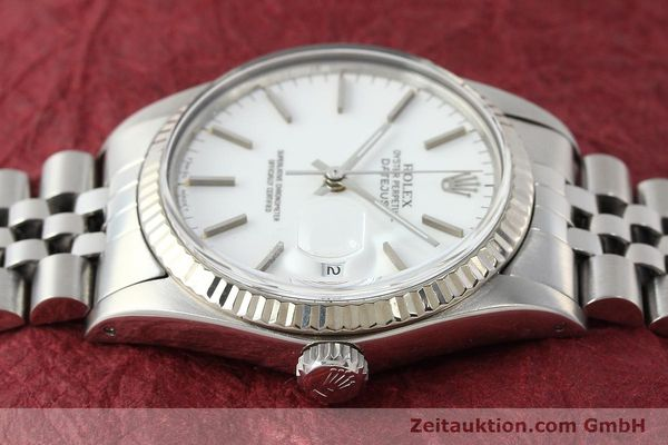 Used luxury watch Rolex Datejust steel / white gold automatic Kal. 3035 Ref. 16014  | 142794 05
