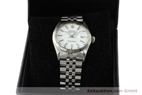 Used luxury watch Rolex Datejust steel / white gold automatic Kal. 3035 Ref. 16014  | 142794 07