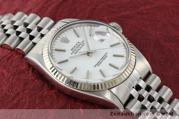 Used luxury watch Rolex Datejust steel / white gold automatic Kal. 3035 Ref. 16014  | 142794 15
