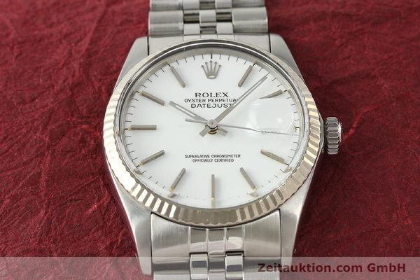 Used luxury watch Rolex Datejust steel / white gold automatic Kal. 3035 Ref. 16014  | 142794 16
