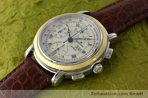 Used luxury watch Maurice Lacroix Masterpiece chronograph steel / gold automatic Kal. ML 67 ETA 7750 Ref. MP6313  | 142797 01