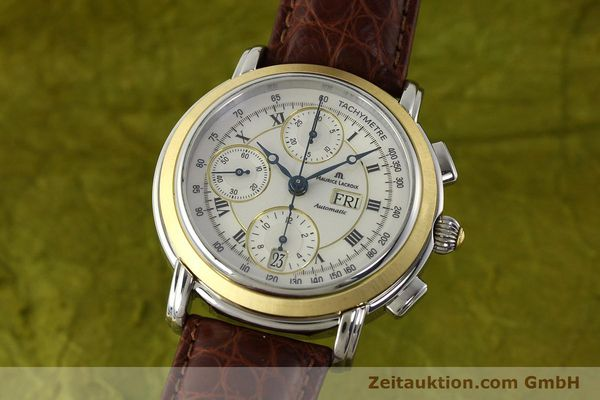 Used luxury watch Maurice Lacroix Masterpiece chronograph steel / gold automatic Kal. ML 67 ETA 7750 Ref. MP6313  | 142797 04