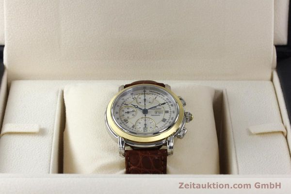 Used luxury watch Maurice Lacroix Masterpiece chronograph steel / gold automatic Kal. ML 67 ETA 7750 Ref. MP6313  | 142797 07