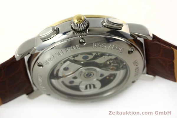Used luxury watch Maurice Lacroix Masterpiece chronograph steel / gold automatic Kal. ML 67 ETA 7750 Ref. MP6313  | 142797 11