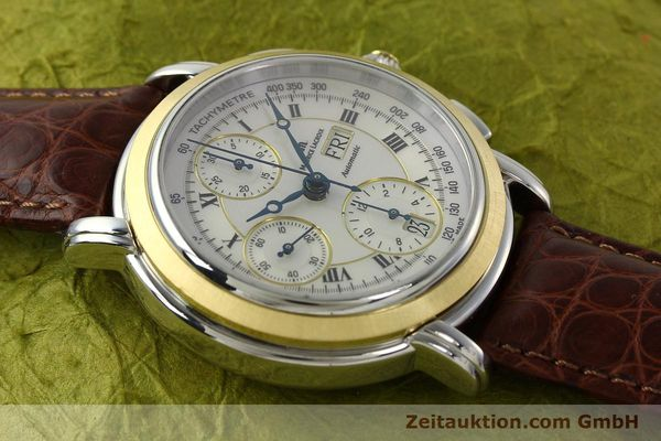 Used luxury watch Maurice Lacroix Masterpiece chronograph steel / gold automatic Kal. ML 67 ETA 7750 Ref. MP6313  | 142797 16