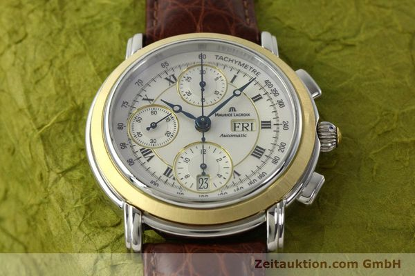 Used luxury watch Maurice Lacroix Masterpiece chronograph steel / gold automatic Kal. ML 67 ETA 7750 Ref. MP6313  | 142797 17