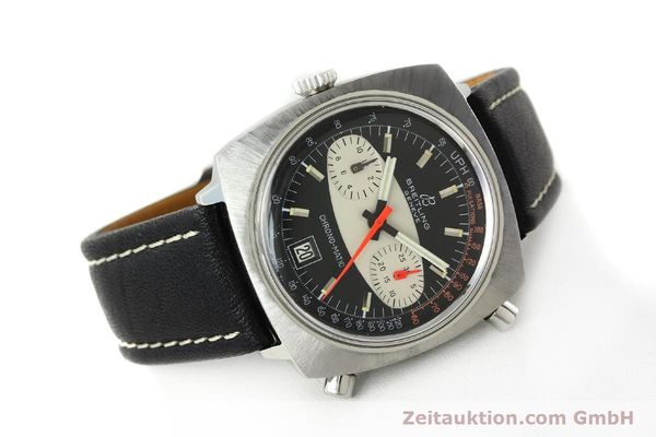 gebrauchte Luxusuhr Breitling Chrono-Matic Chronograph Stahl Automatik Kal. 11 Ref. 2111  | 142799 03