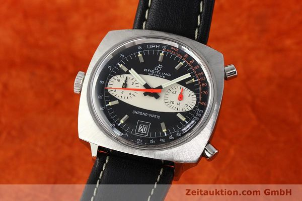 gebrauchte Luxusuhr Breitling Chrono-Matic Chronograph Stahl Automatik Kal. 11 Ref. 2111  | 142799 04