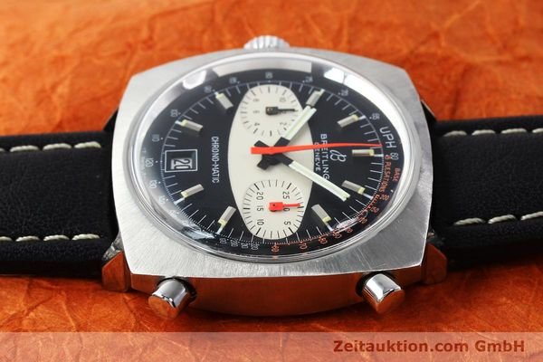 gebrauchte Luxusuhr Breitling Chrono-Matic Chronograph Stahl Automatik Kal. 11 Ref. 2111  | 142799 05