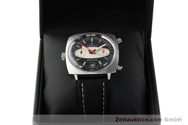 gebrauchte Luxusuhr Breitling Chrono-Matic Chronograph Stahl Automatik Kal. 11 Ref. 2111  | 142799 07
