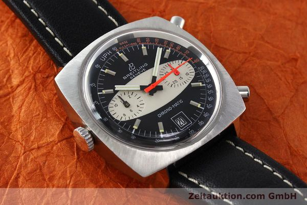 gebrauchte Luxusuhr Breitling Chrono-Matic Chronograph Stahl Automatik Kal. 11 Ref. 2111  | 142799 13
