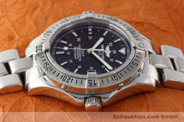 Used luxury watch Breitling Colt steel automatic Kal. B17 ETA 2824-2 Ref. A17350  | 142802 05