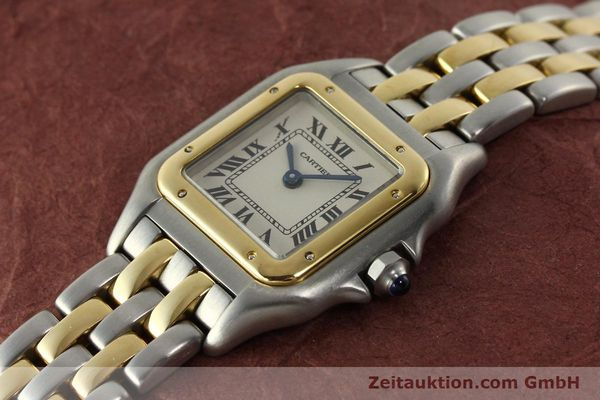 montre de luxe d occasion Cartier Panthere acier / or  quartz Kal. 157  | 142807 01