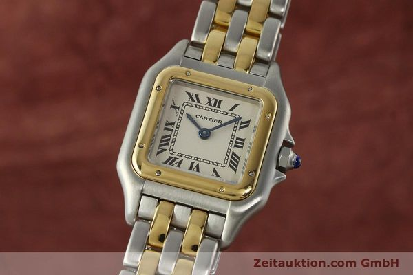 montre de luxe d occasion Cartier Panthere acier / or  quartz Kal. 157  | 142807 04