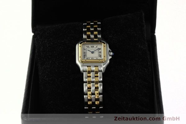 montre de luxe d occasion Cartier Panthere acier / or  quartz Kal. 157  | 142807 07