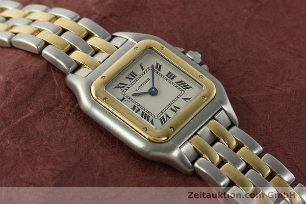 montre de luxe d occasion Cartier Panthere acier / or  quartz Kal. 157  | 142807 13