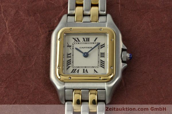 montre de luxe d occasion Cartier Panthere acier / or  quartz Kal. 157  | 142807 14
