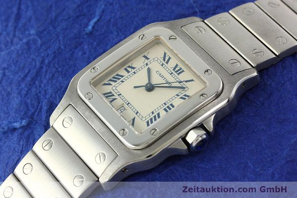 Used luxury watch Cartier Santos steel quartz Kal. 87  | 142810 01