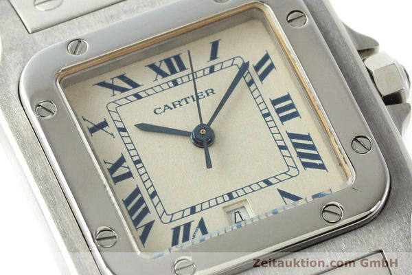 Used luxury watch Cartier Santos steel quartz Kal. 87  | 142810 02