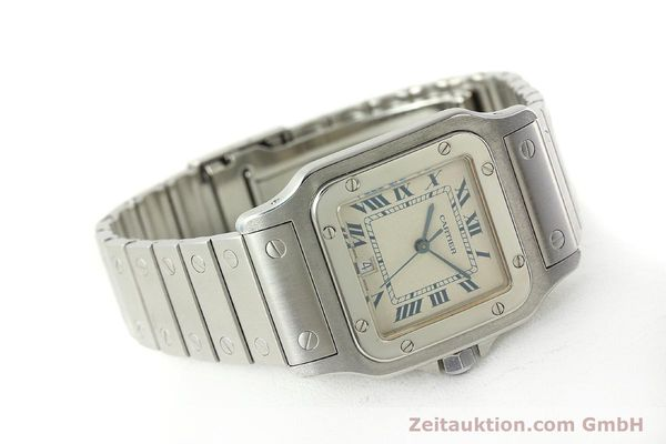 Used luxury watch Cartier Santos steel quartz Kal. 87  | 142810 03