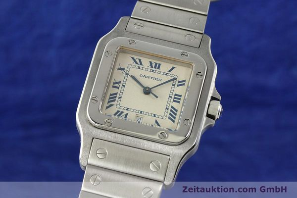 Used luxury watch Cartier Santos steel quartz Kal. 87  | 142810 04