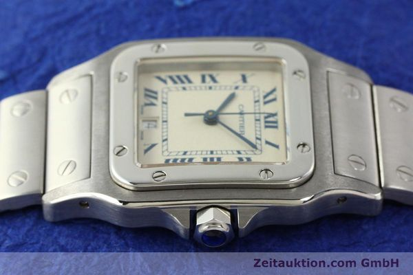 Used luxury watch Cartier Santos steel quartz Kal. 87  | 142810 05
