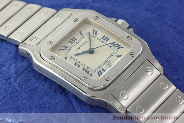 Used luxury watch Cartier Santos steel quartz Kal. 87  | 142810 13
