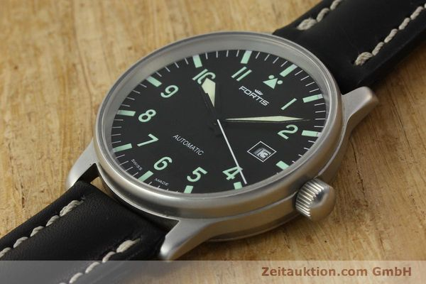 Used luxury watch Fortis Flieger steel automatic Kal. ETA 2894-2 Ref. 595.10.46  | 142818 01