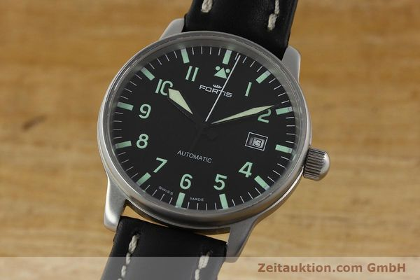 Used luxury watch Fortis Flieger steel automatic Kal. ETA 2894-2 Ref. 595.10.46  | 142818 04