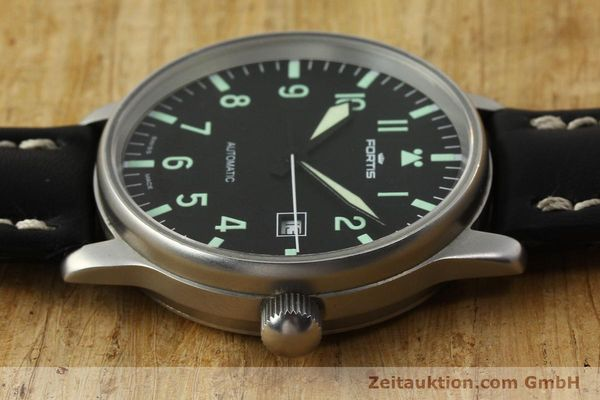 Used luxury watch Fortis Flieger steel automatic Kal. ETA 2894-2 Ref. 595.10.46  | 142818 05