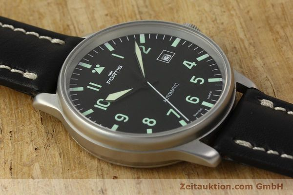 Used luxury watch Fortis Flieger steel automatic Kal. ETA 2894-2 Ref. 595.10.46  | 142818 14