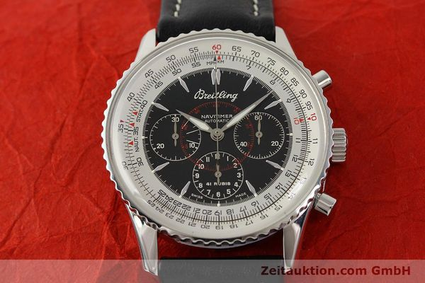 Used luxury watch Breitling Montbrillant chronograph steel automatic Kal. B30 ETA 2892A2 Ref. A30030.2  | 142821 12