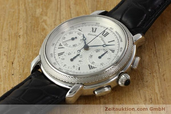 Used luxury watch Maurice Lacroix Masterpiece chronograph steel manual winding Ref. 46578  | 142823 01