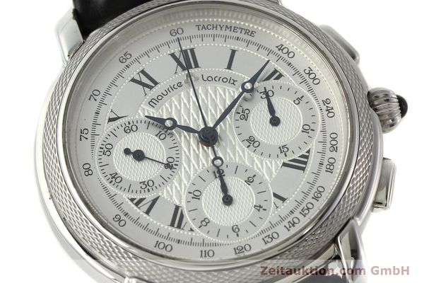 Used luxury watch Maurice Lacroix Masterpiece chronograph steel manual winding Ref. 46578  | 142823 02