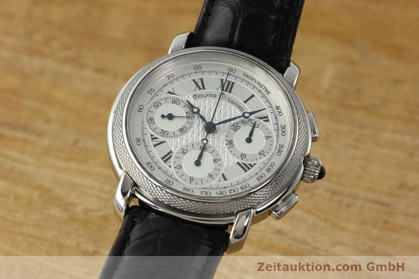 Used luxury watch Maurice Lacroix Masterpiece chronograph steel manual winding Ref. 46578  | 142823 04