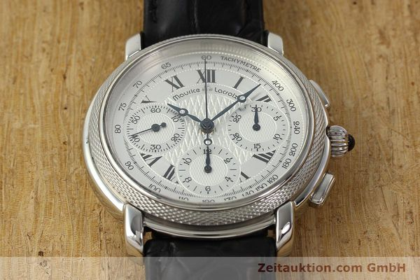 Used luxury watch Maurice Lacroix Masterpiece chronograph steel manual winding Ref. 46578  | 142823 14