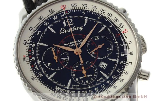 Used luxury watch Breitling Montbrillant chronograph steel automatic Kal. B41 ETA 2892A2 Ref. A41370  | 142825 02