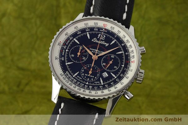 Used luxury watch Breitling Montbrillant chronograph steel automatic Kal. B41 ETA 2892A2 Ref. A41370  | 142825 04