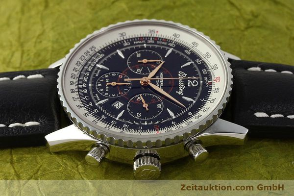 Used luxury watch Breitling Montbrillant chronograph steel automatic Kal. B41 ETA 2892A2 Ref. A41370  | 142825 05
