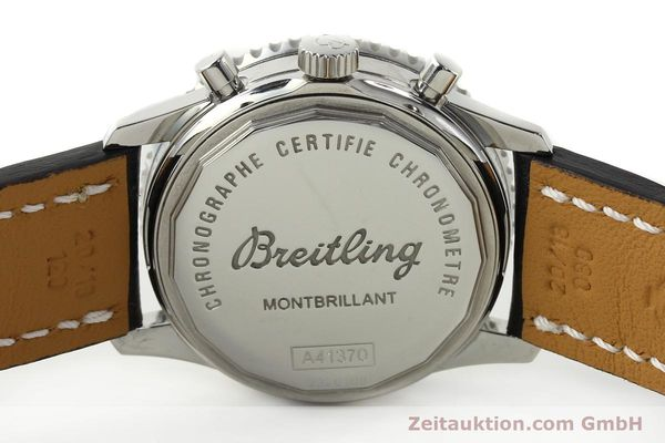 Used luxury watch Breitling Montbrillant chronograph steel automatic Kal. B41 ETA 2892A2 Ref. A41370  | 142825 09
