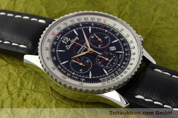 Used luxury watch Breitling Montbrillant chronograph steel automatic Kal. B41 ETA 2892A2 Ref. A41370  | 142825 14